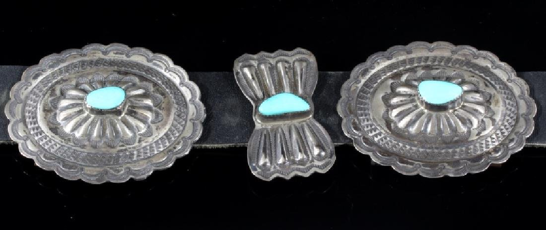 Navajo 3rd Phase Sterling & Turquoise Concho Belt - 6