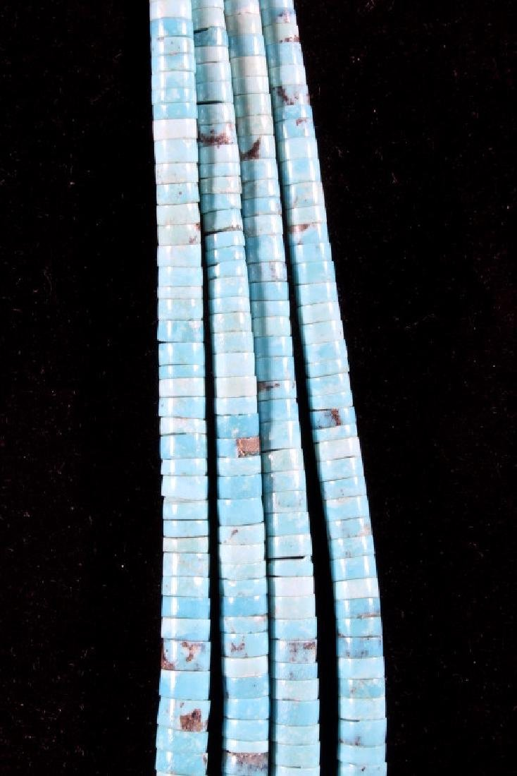 Navajo Morenci Turquoise Multistrand Necklace - 8