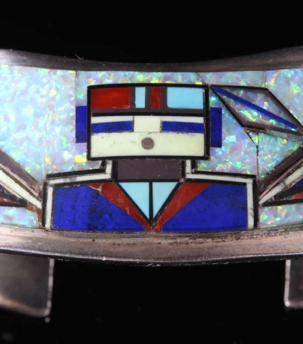 RJ Edaakie Zuni Multistone Mosaic & Sterling Cuff - 2
