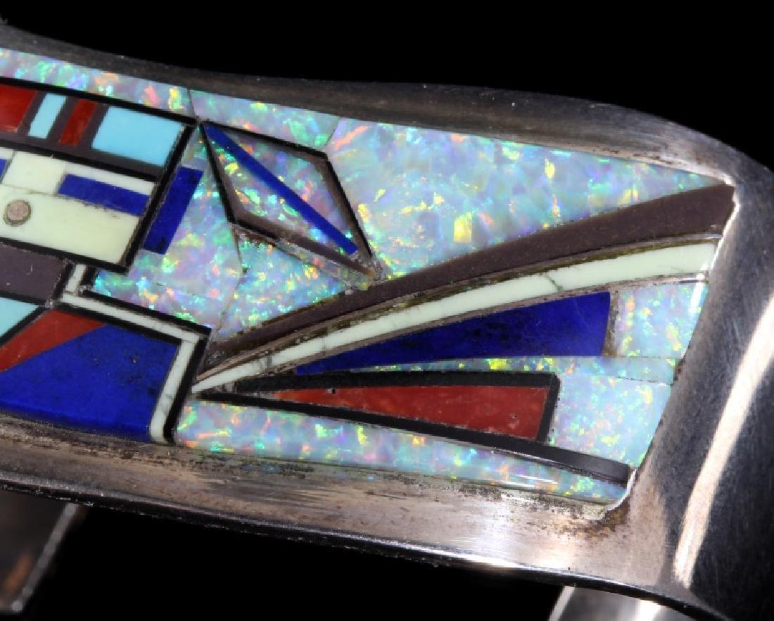 RJ Edaakie Zuni Multistone Mosaic & Sterling Cuff - 3