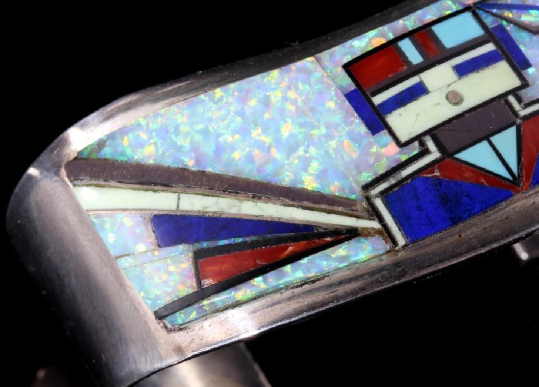 RJ Edaakie Zuni Multistone Mosaic & Sterling Cuff - 4