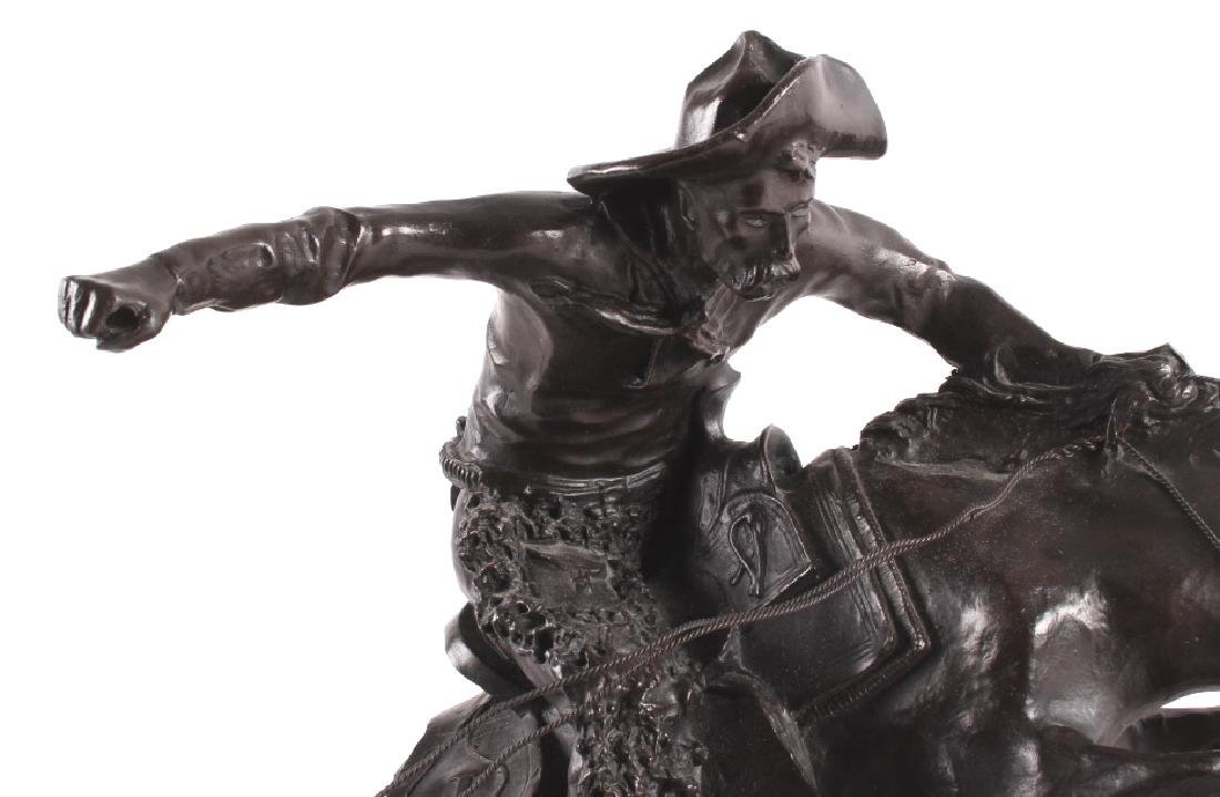 """Frederic Remington Bronze """"Wooly Chaps"""" - 2"""