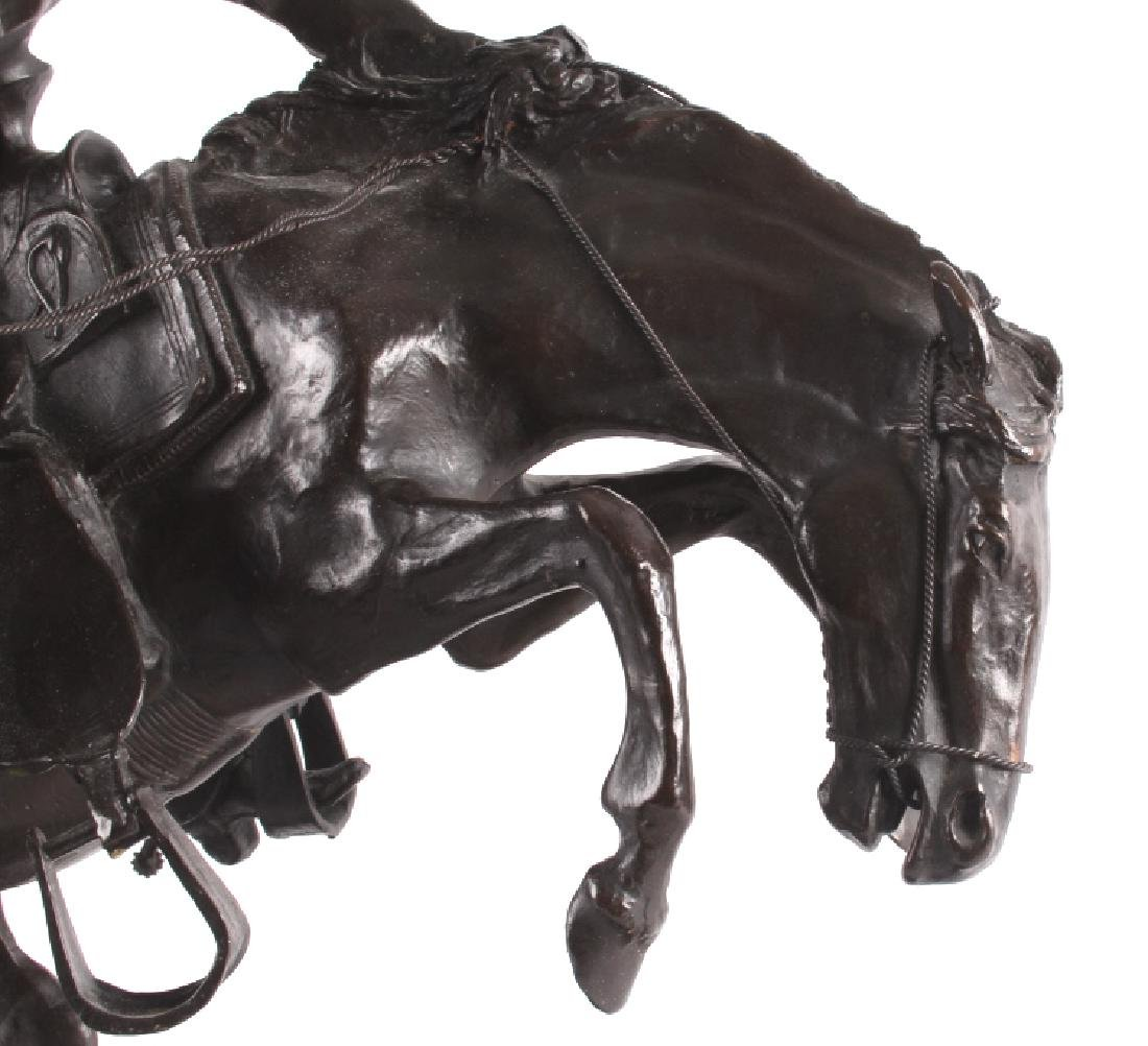 """Frederic Remington Bronze """"Wooly Chaps"""" - 3"""