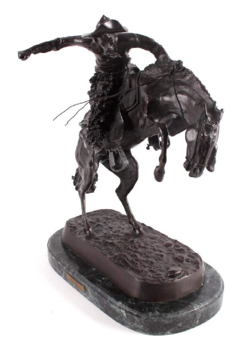 """Frederic Remington Bronze """"Wooly Chaps"""" - 6"""