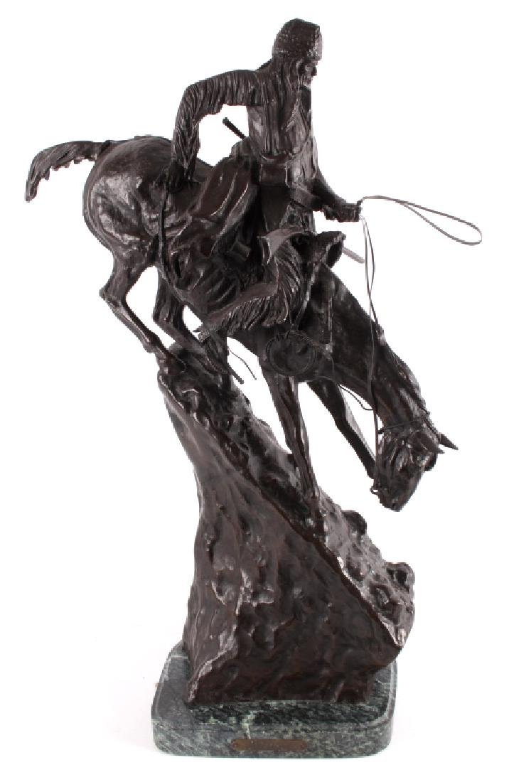 """Frederic Remington Bronze """"Mountain Man"""" - 3"""