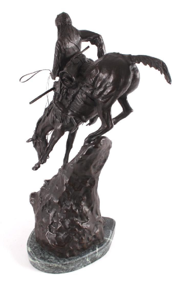 """Frederic Remington Bronze """"Mountain Man"""" - 8"""