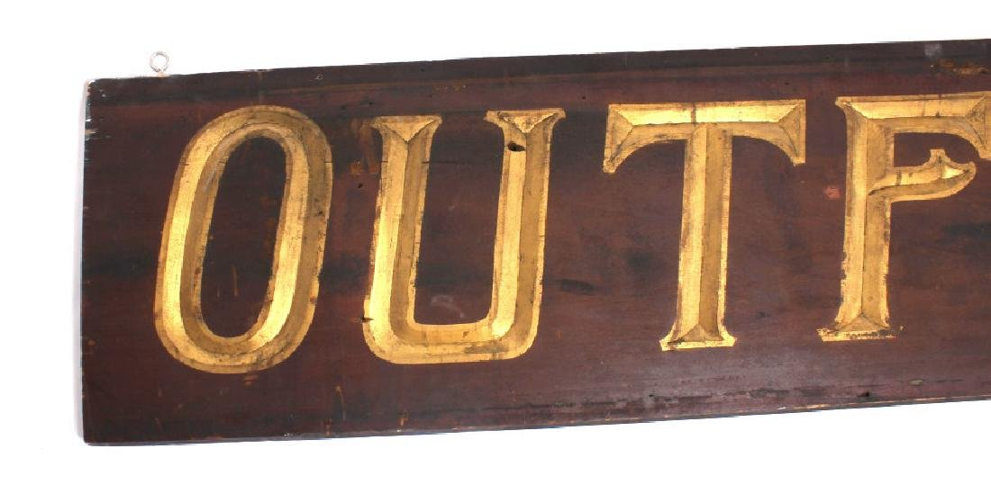 Early Outfitter Trade Sign Carved Wood c. 19th - 5