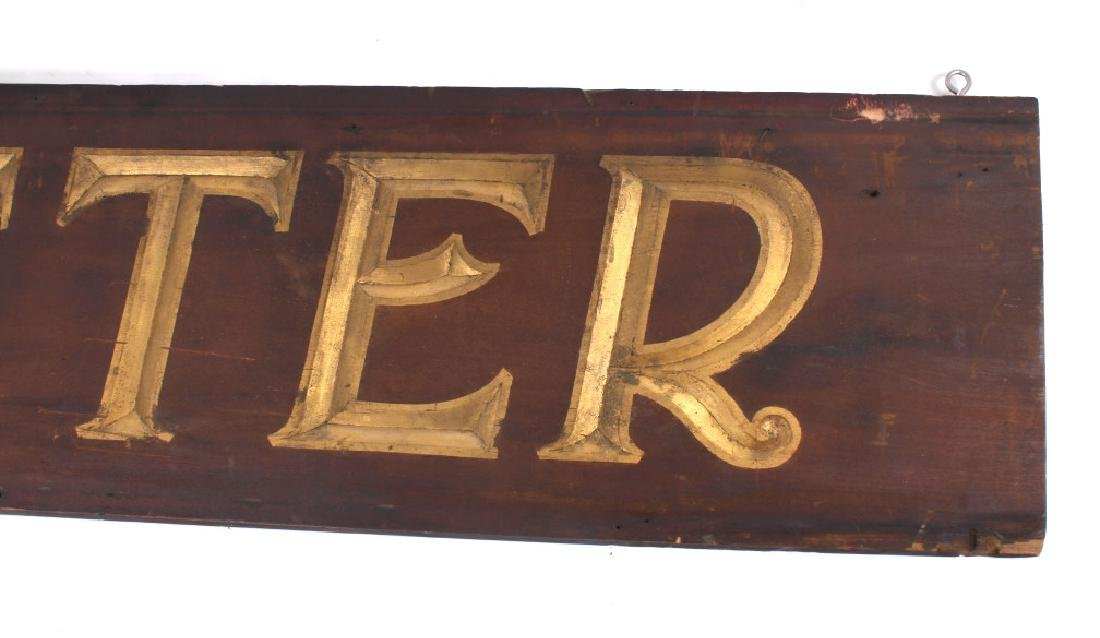 Early Outfitter Trade Sign Carved Wood c. 19th - 7