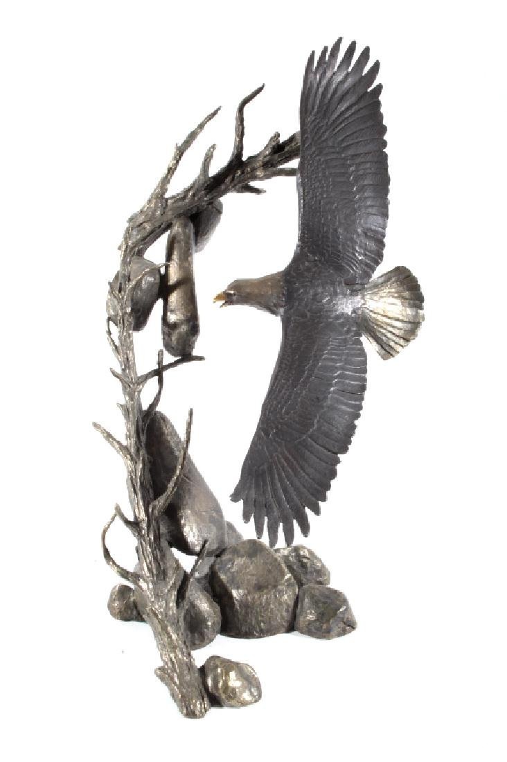 American Bald Eagle Bronze by Mark Hopkins LARGE - 3