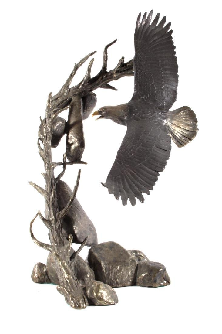 American Bald Eagle Bronze by Mark Hopkins LARGE - 4