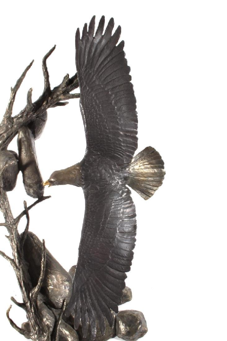 American Bald Eagle Bronze by Mark Hopkins LARGE - 5