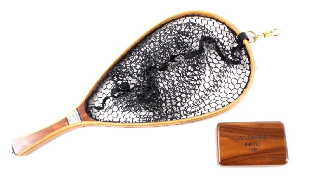 Brodin Jackson Hole One Fly Net and Walnut Fly Box