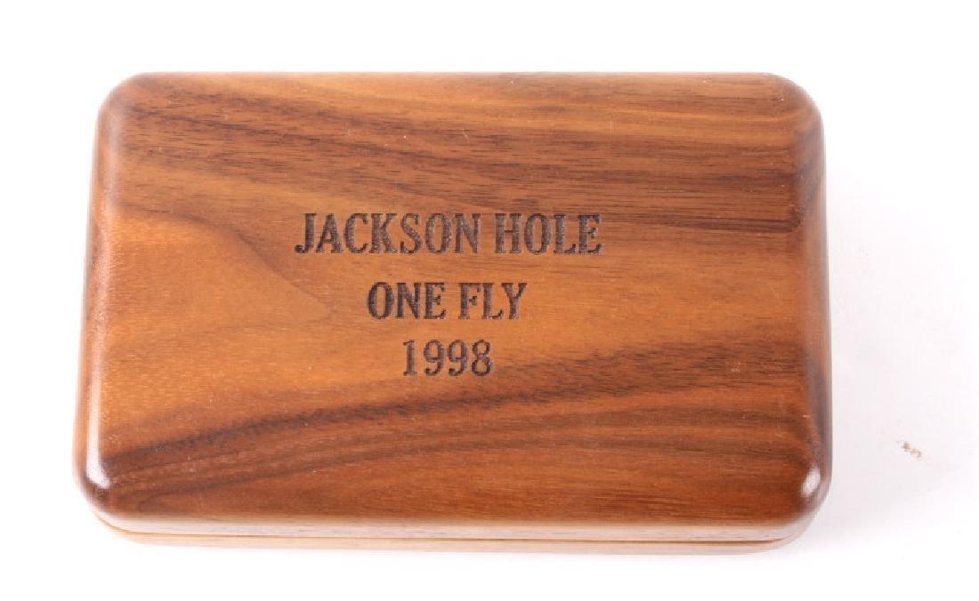Brodin Jackson Hole One Fly Net and Walnut Fly Box - 6
