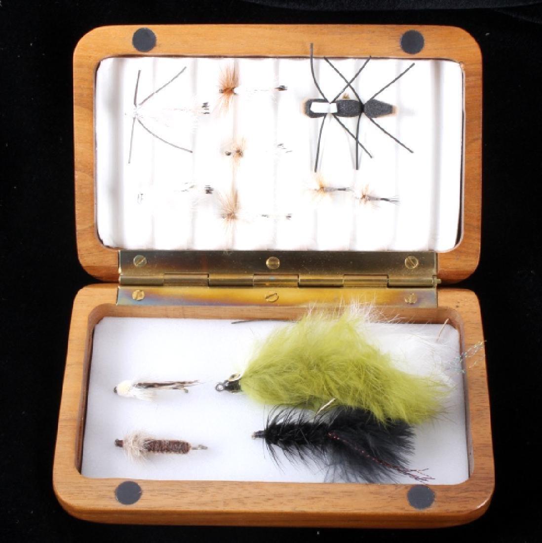 Brodin Jackson Hole One Fly Net and Walnut Fly Box - 8