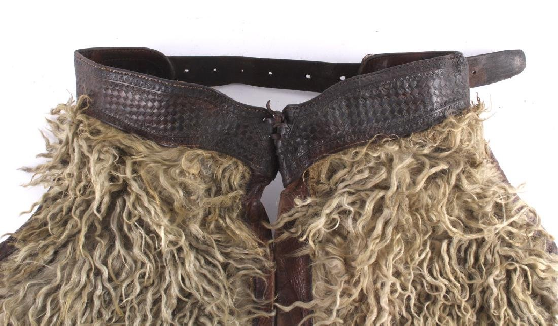 Miles City Saddlery Tooled Wooly Chaps - 3