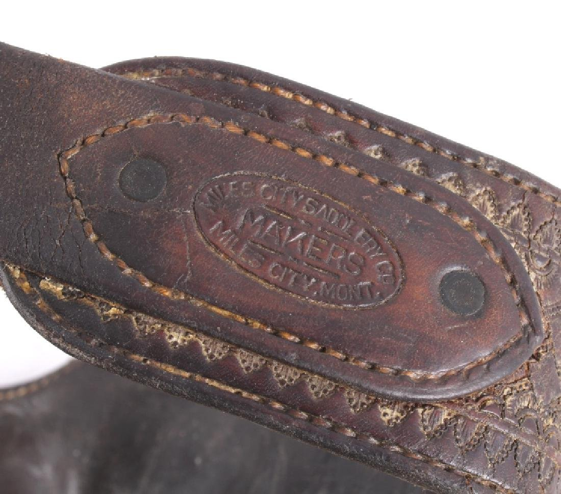 Miles City Saddlery Tooled Wooly Chaps - 6