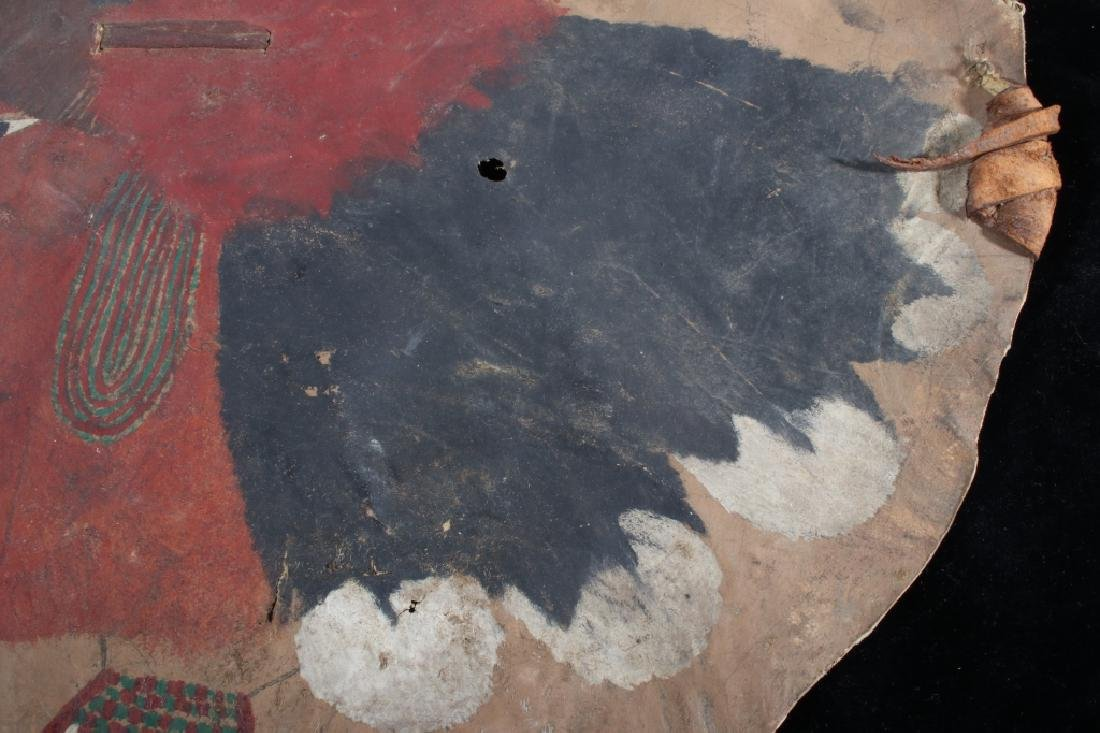 Paiute Polychrome Painted Warrior's Shield 19th C. - 10