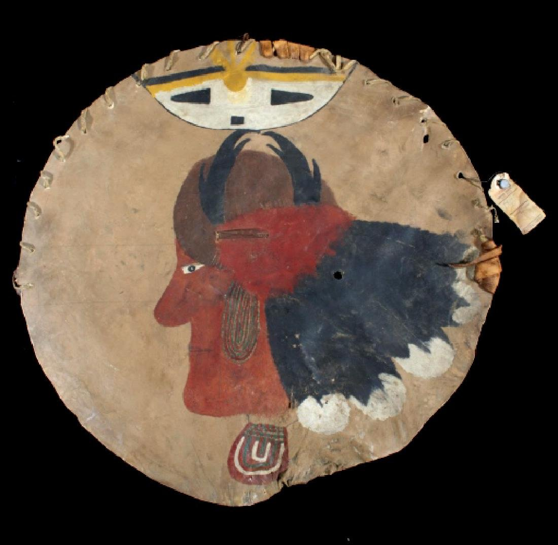 Paiute Polychrome Painted Warrior's Shield 19th C.