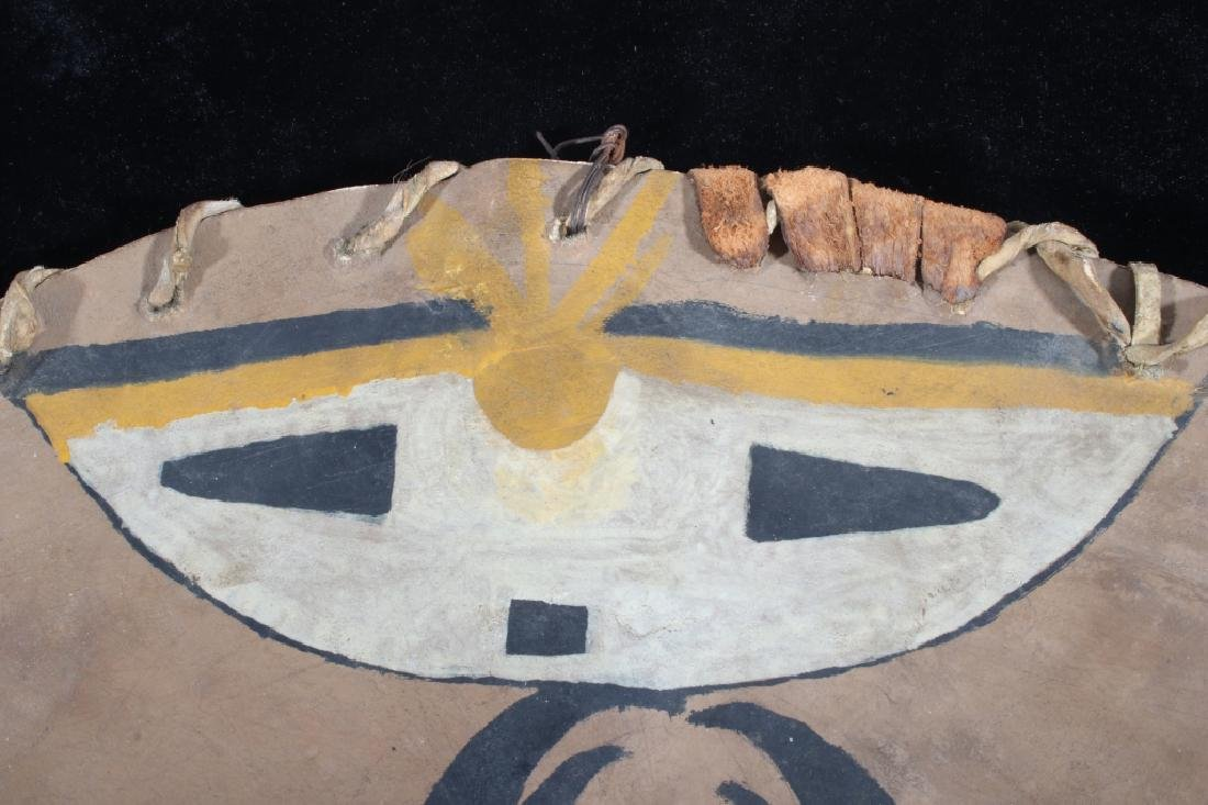 Paiute Polychrome Painted Warrior's Shield 19th C. - 7