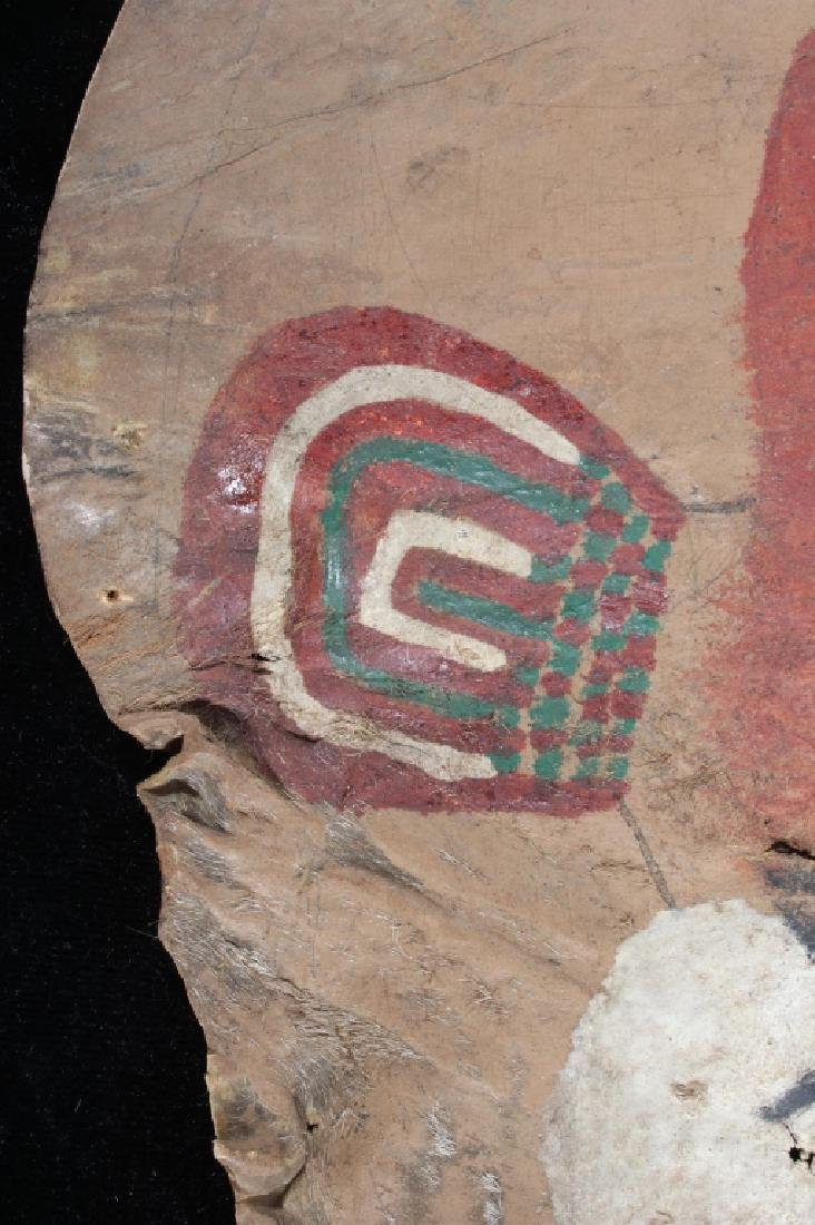 Paiute Polychrome Painted Warrior's Shield 19th C. - 9