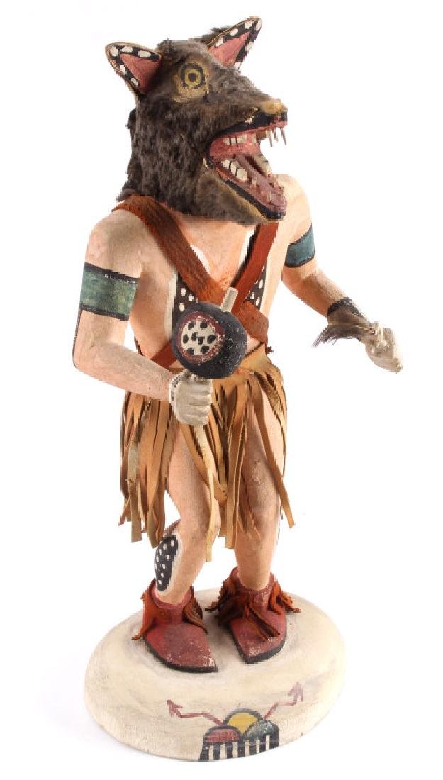 Hopi Wolf Man Cottonwood Kachina Doll c.1968