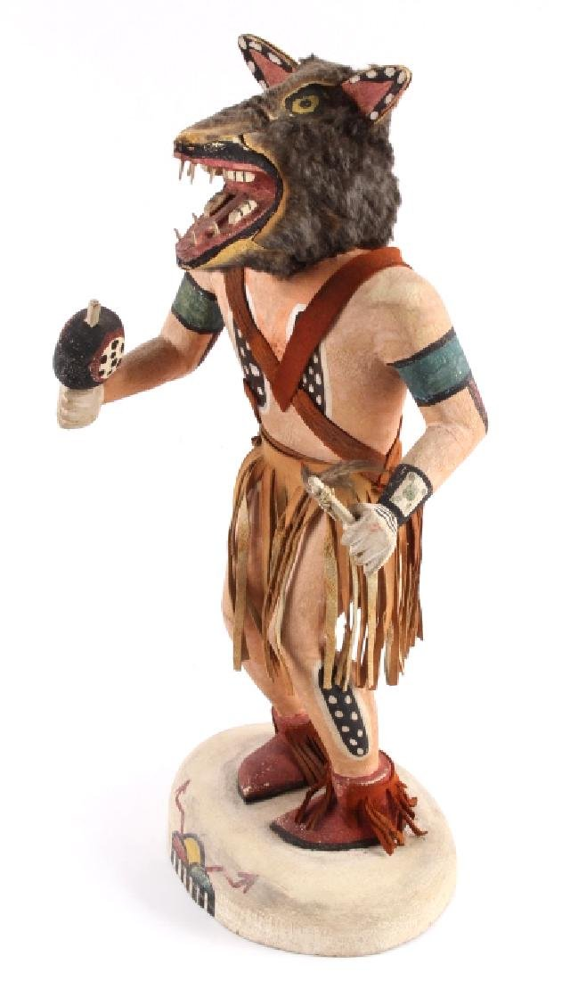 Hopi Wolf Man Cottonwood Kachina Doll c.1968 - 3
