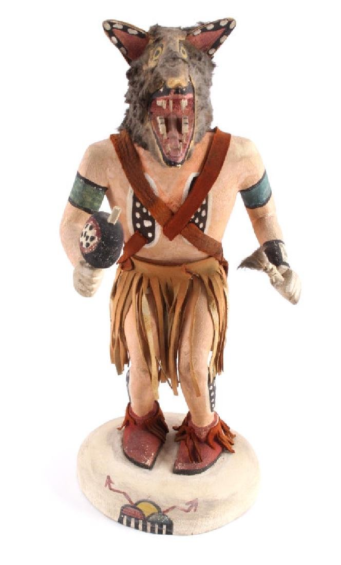 Hopi Wolf Man Cottonwood Kachina Doll c.1968 - 5