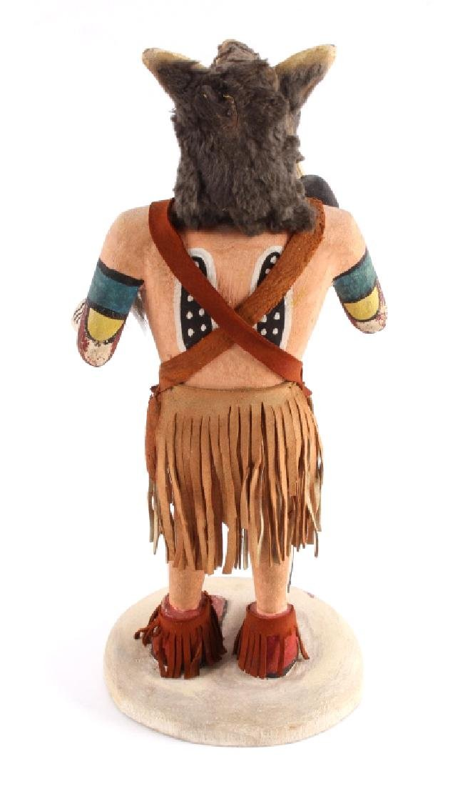 Hopi Wolf Man Cottonwood Kachina Doll c.1968 - 7