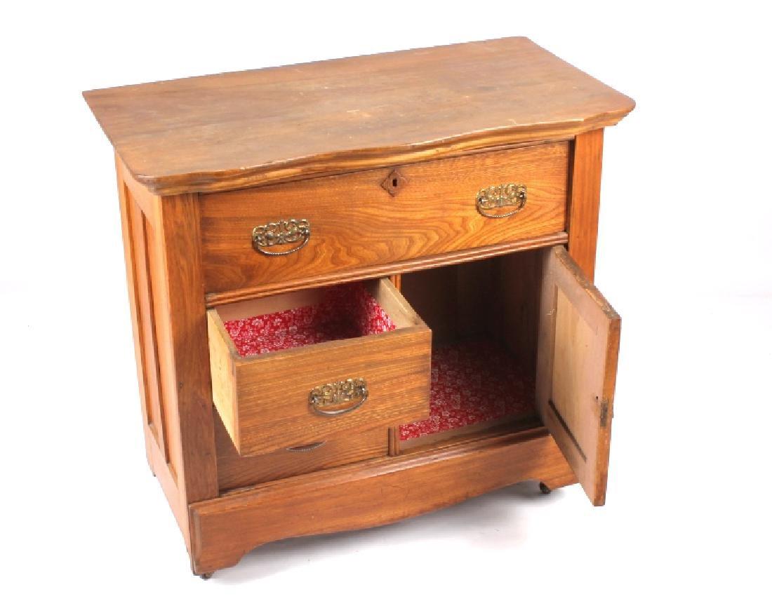 Dark Oak Wooden Dresser - 3