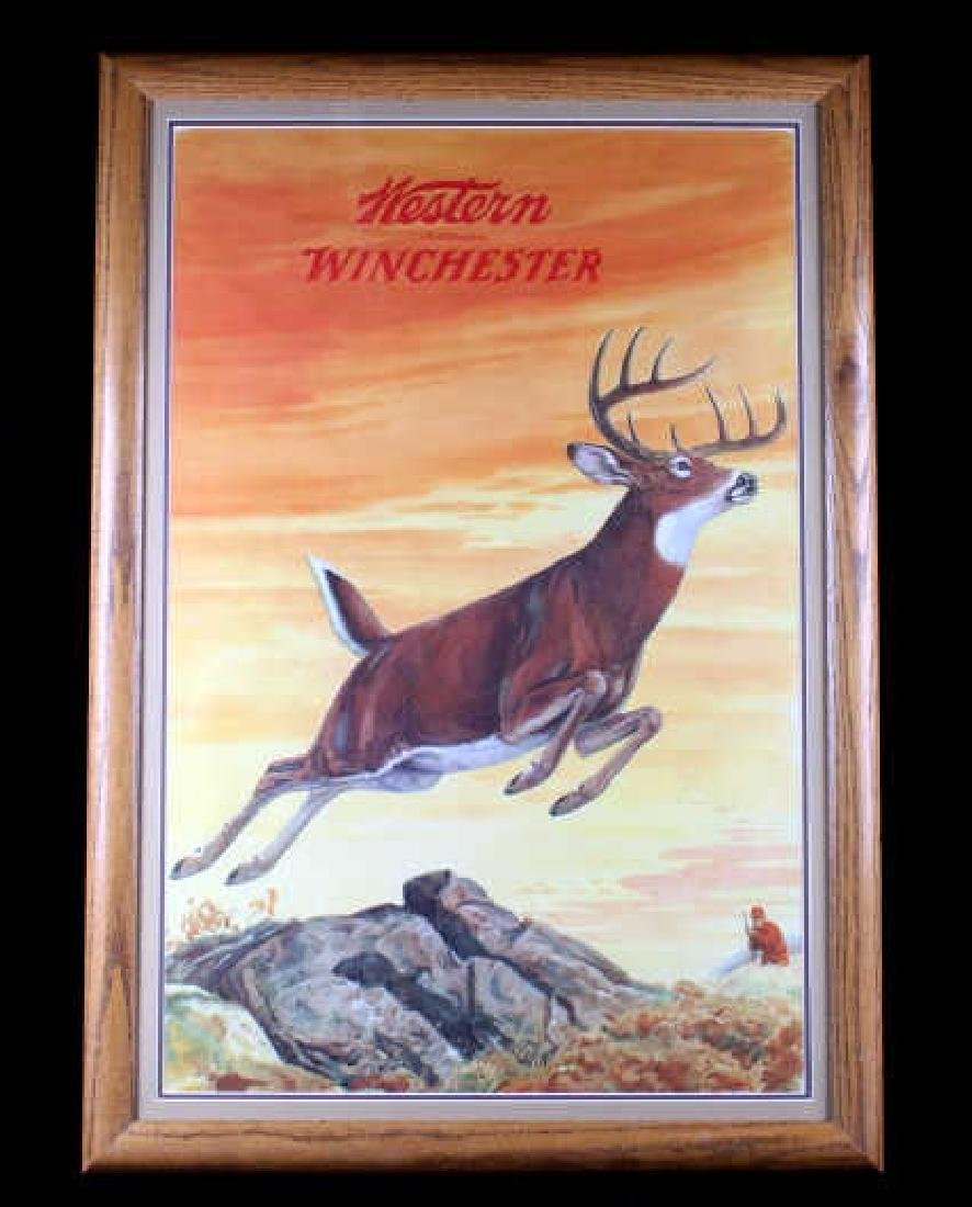Original 1955 Western-Winchester Whitetail Poster
