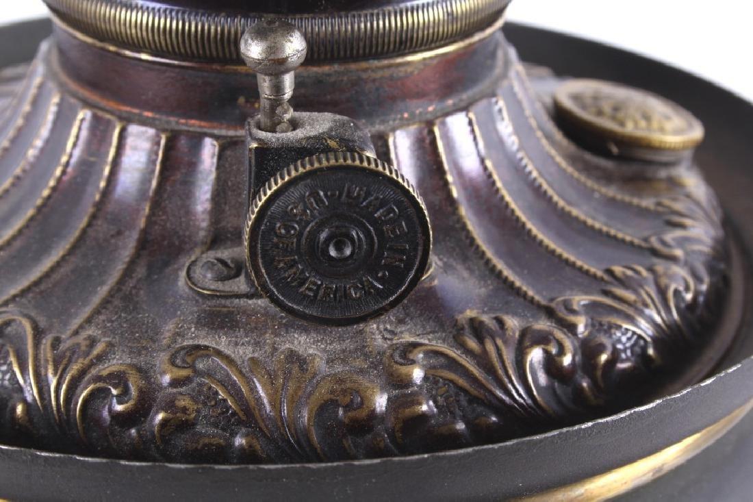 Victorian Full Metal Kerosene Lamp c. 1892- - 10