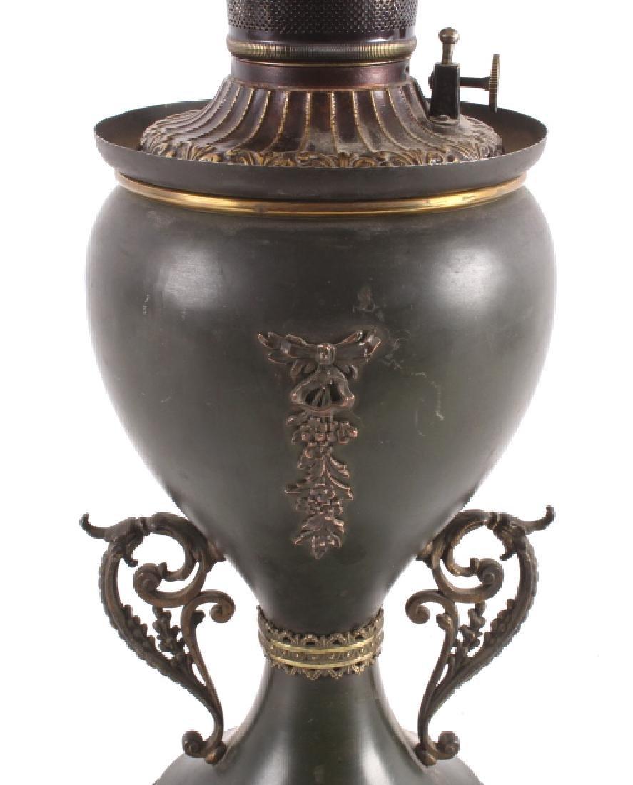 Victorian Full Metal Kerosene Lamp c. 1892- - 3
