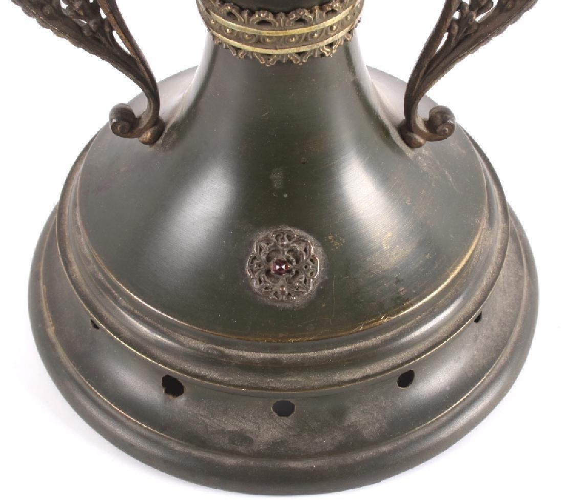 Victorian Full Metal Kerosene Lamp c. 1892- - 4
