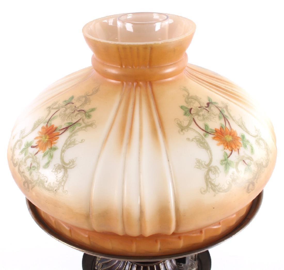 Victorian Full Metal Kerosene Lamp c. 1892- - 5