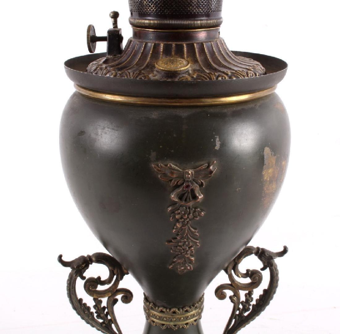 Victorian Full Metal Kerosene Lamp c. 1892- - 7