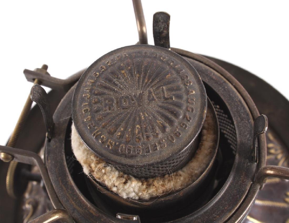Victorian Full Metal Kerosene Lamp c. 1892- - 8