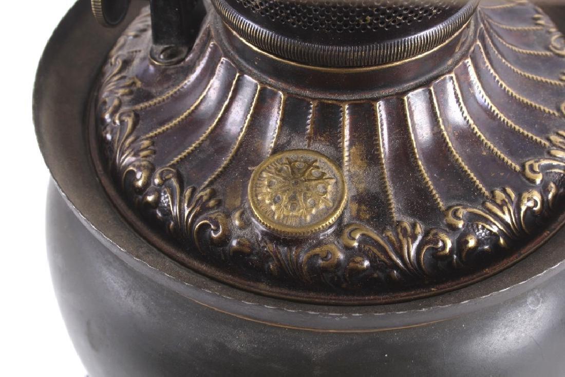 Victorian Full Metal Kerosene Lamp c. 1892- - 9