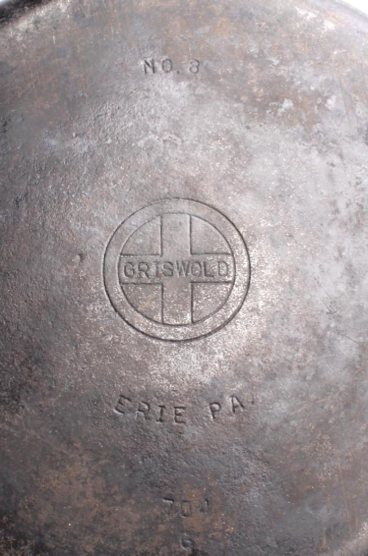 Griswold Number 8 & 9 Cast Iron Skillet w/ Lid - 8
