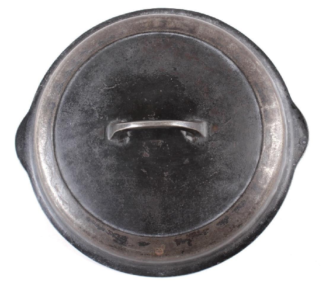 Griswold Number 8 & 9 Cast Iron Skillet w/ Lid - 9