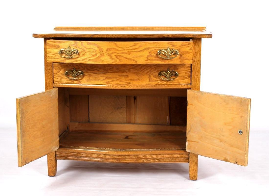 Antique Light Oak Dresser - 3