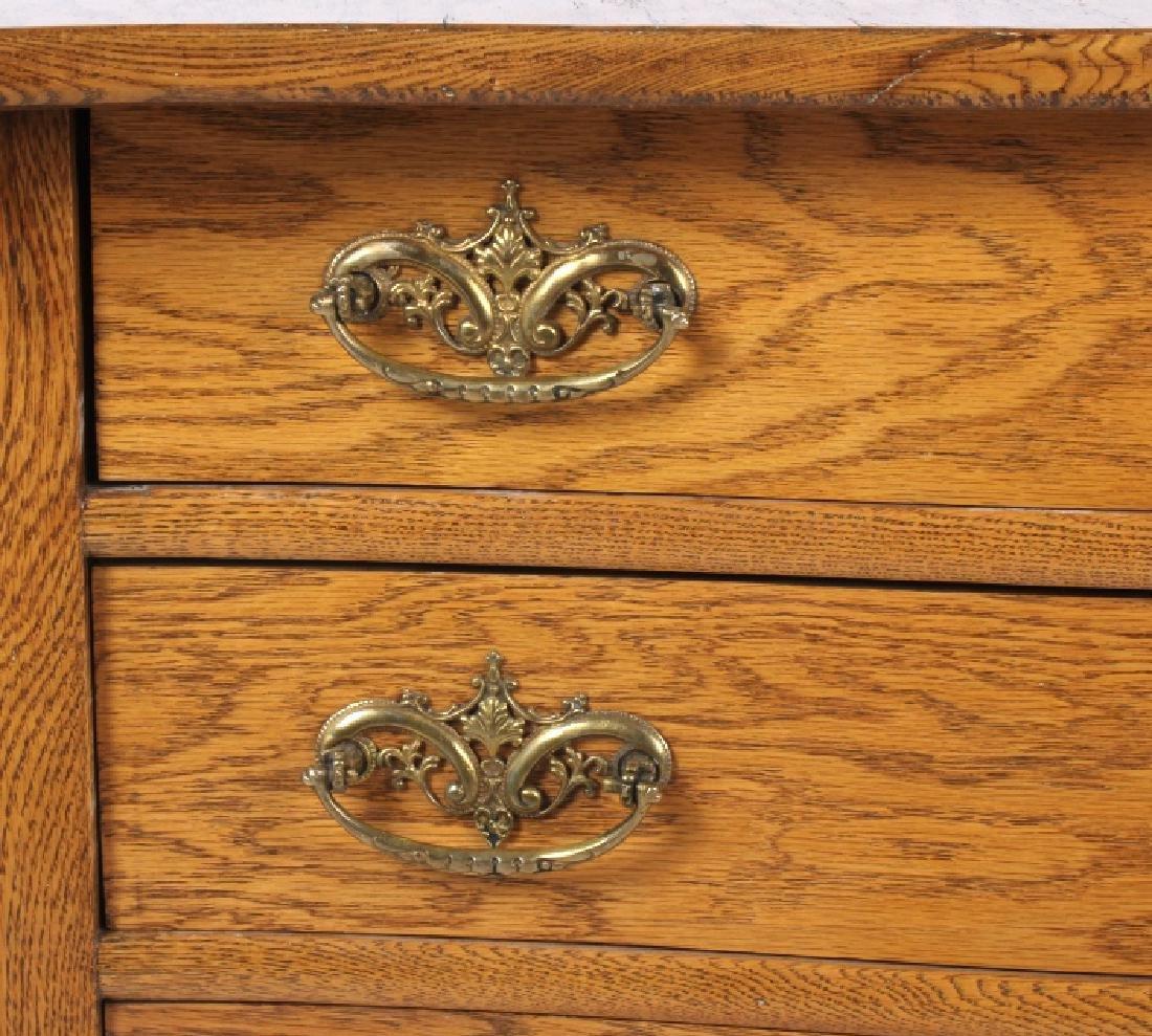 Antique Light Oak Dresser - 7