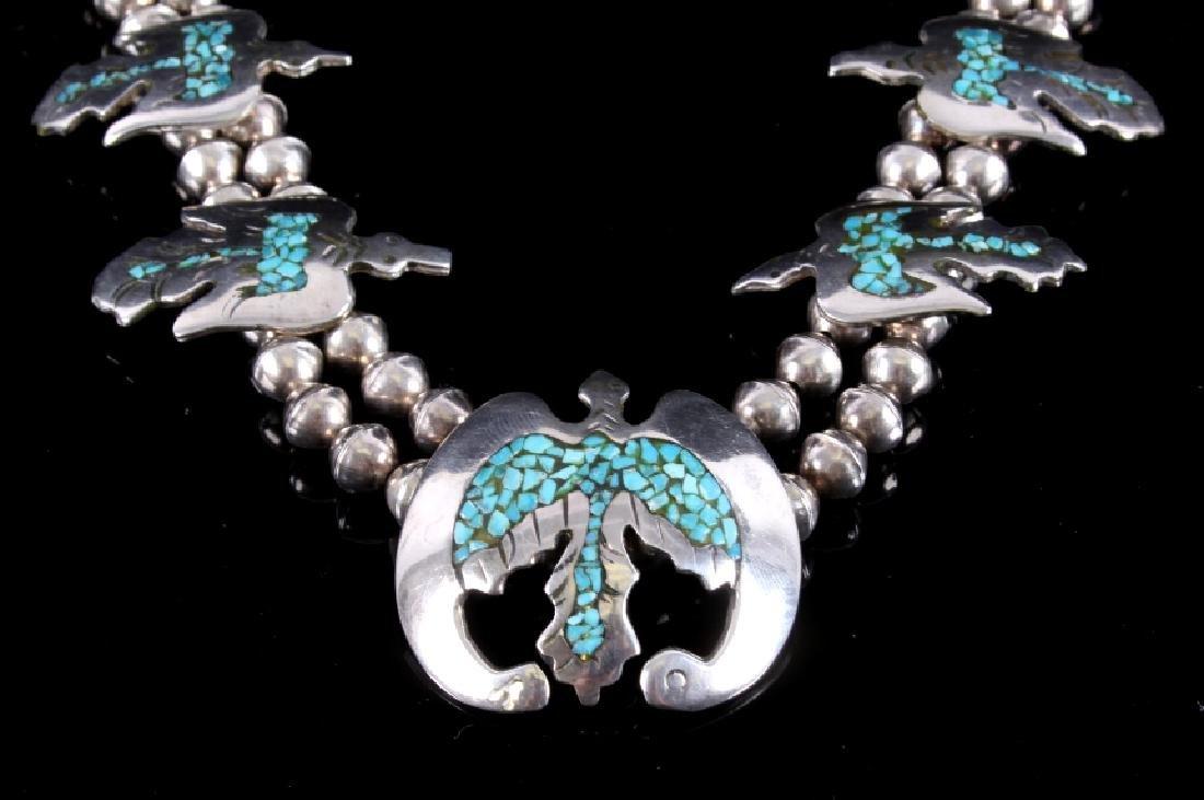 Navajo Water Bird Effigy Charm Necklace - 2