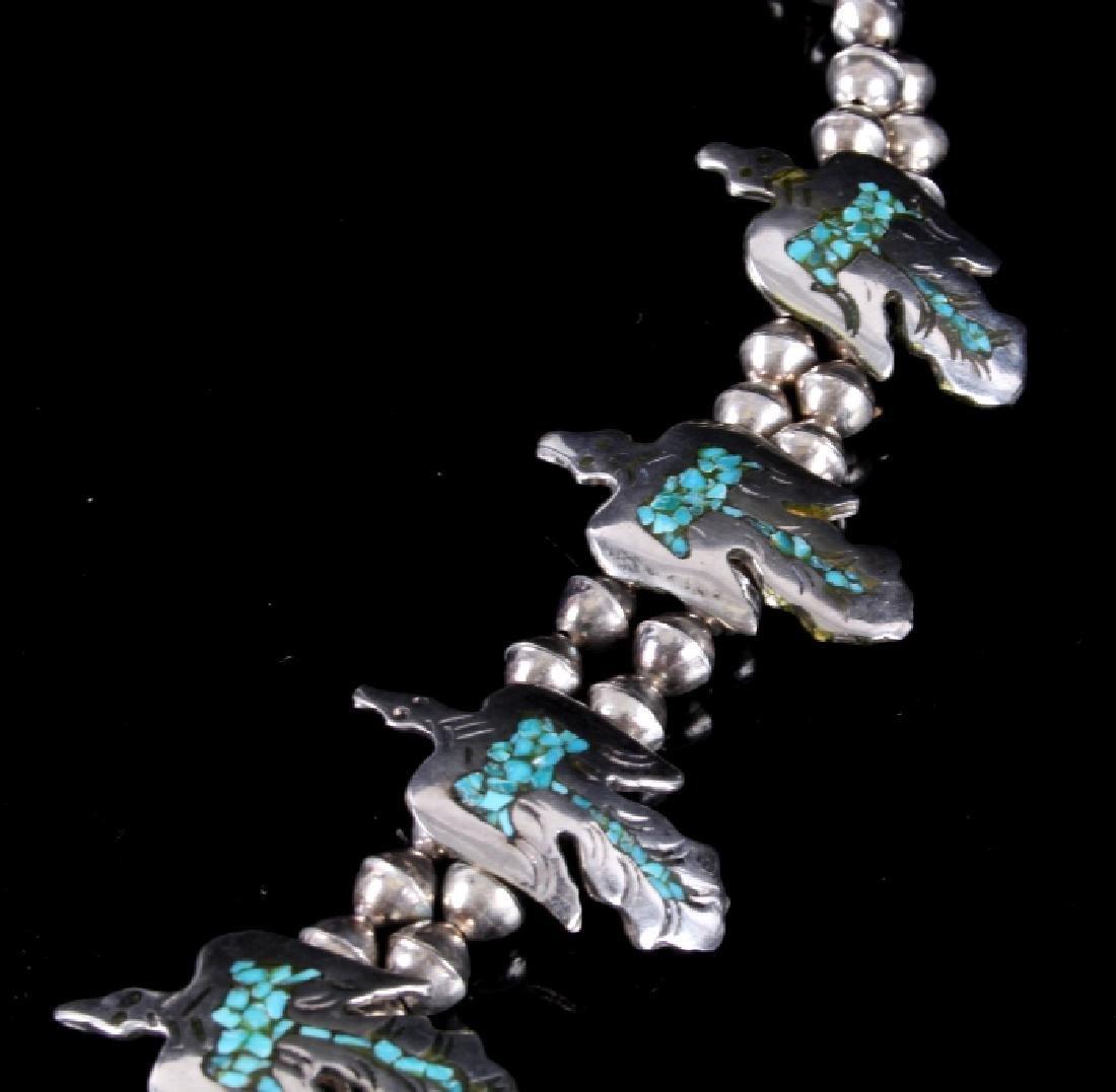 Navajo Water Bird Effigy Charm Necklace - 3