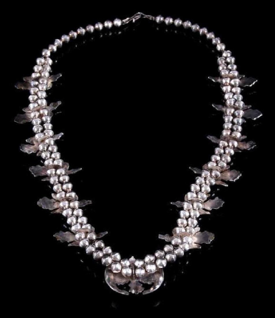 Navajo Water Bird Effigy Charm Necklace - 6