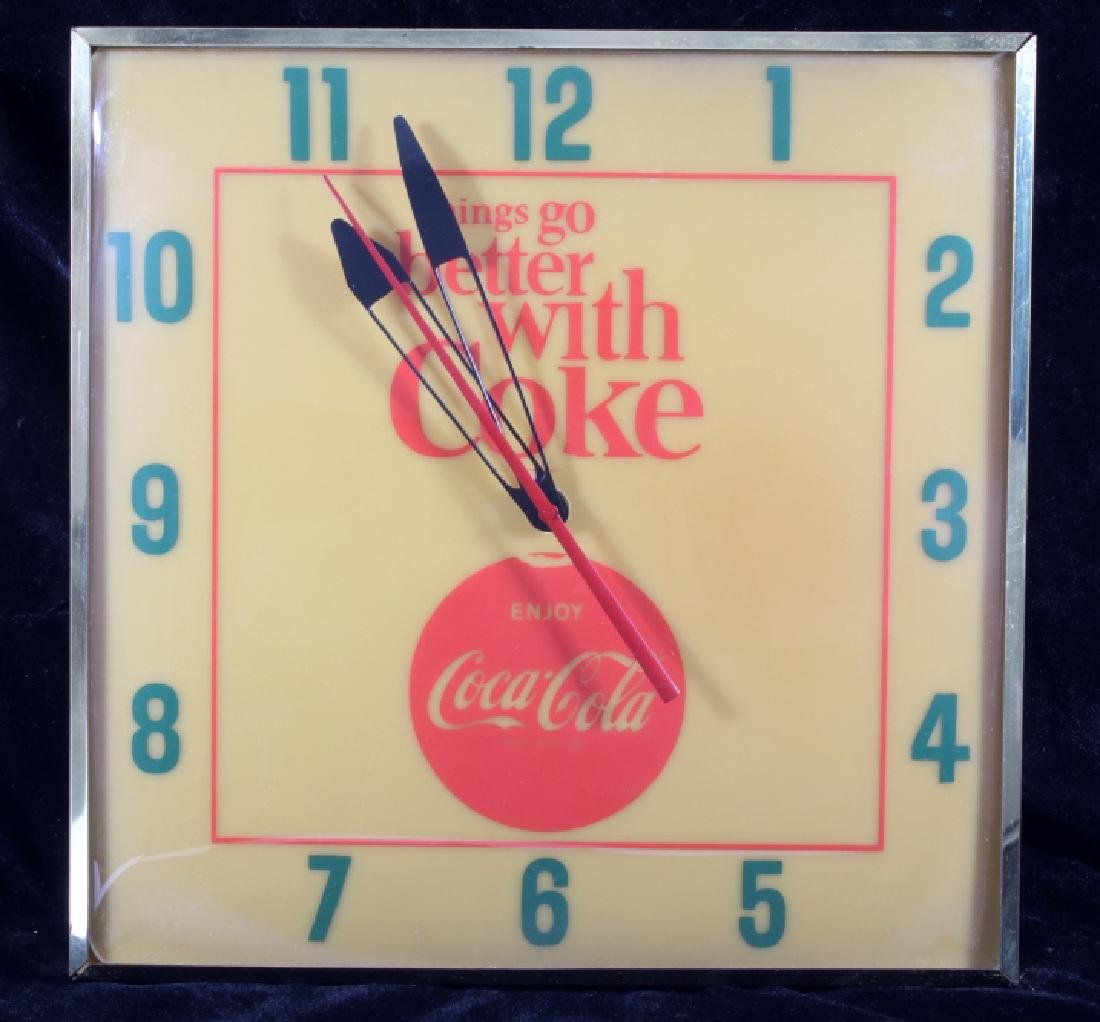 Vintage Coca-Cola Lighted Advertising Clock