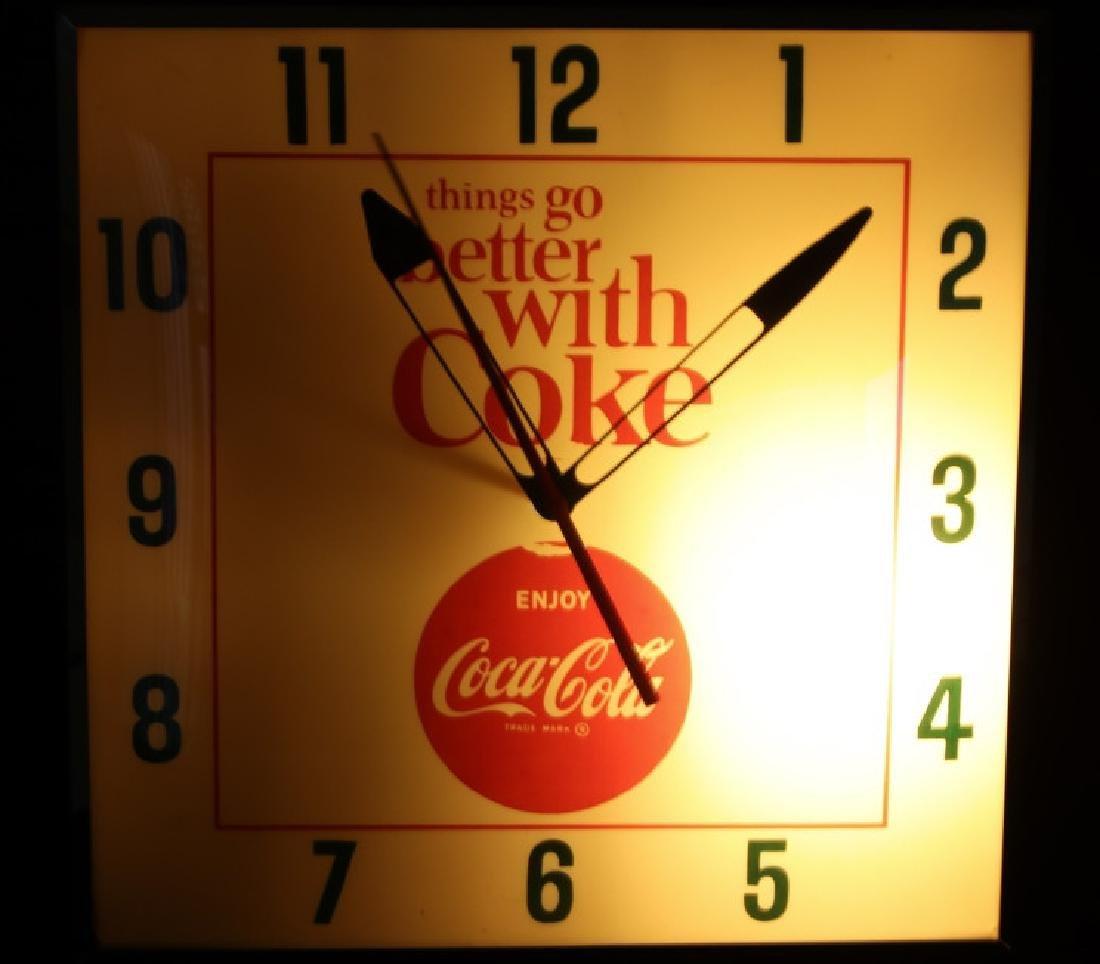 Vintage Coca-Cola Lighted Advertising Clock - 2