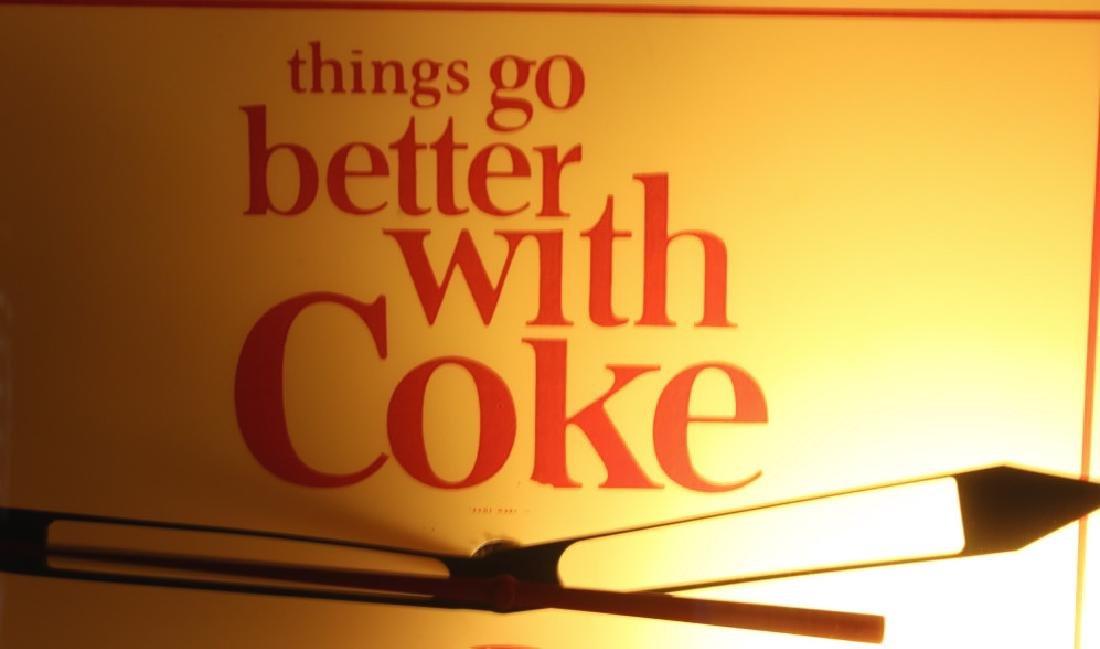 Vintage Coca-Cola Lighted Advertising Clock - 3