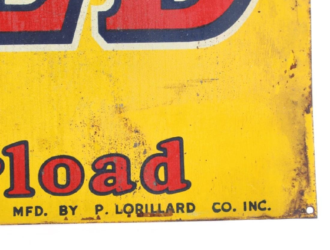 Old Gold Cigarettes Double Sided Tin Sign - 3