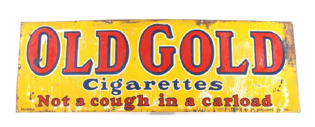 Old Gold Cigarettes Double Sided Tin Sign - 6