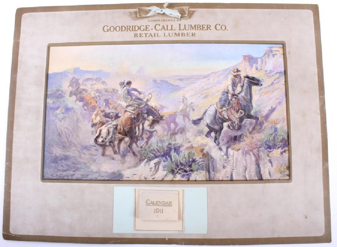 C M Russell Goodridge Lumber 1911 Calendar